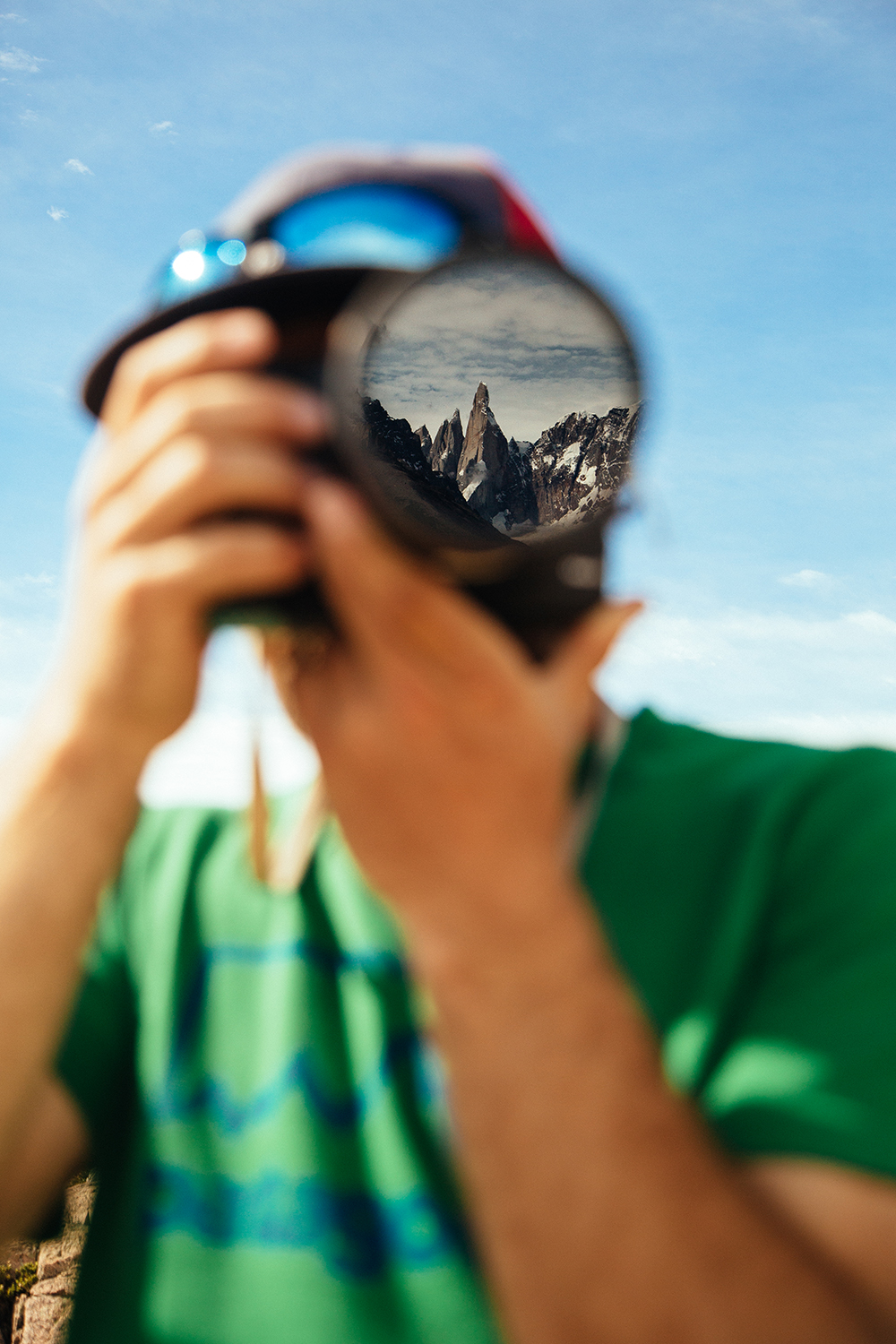 Mikey Shaefer is a man in his element. El Chaltén, Patagonia.