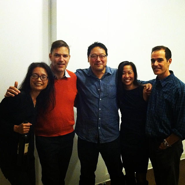 Marie Lee, Ed Boland, Ed Lin, Christine Chiu and Karl Jacoby at the screening of Curtis Chin's documentary.